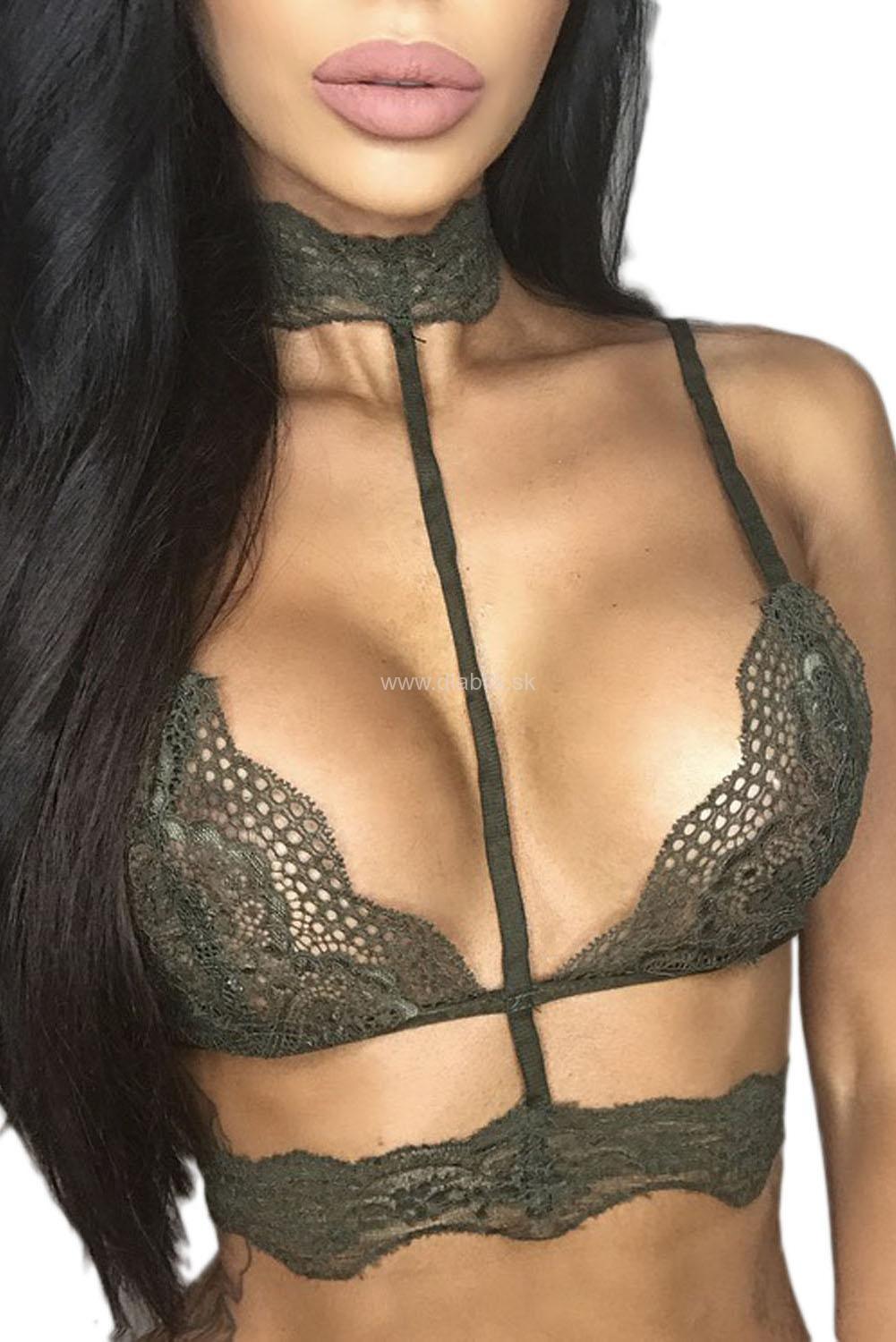 Top bralette Choker Green
